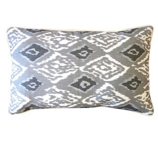 Grey Pluto Throw Pillow