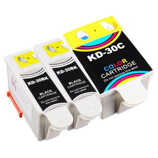 Sophia Global Compatible Ink Cartridge Replacement for Kodak 30 Black and Color (Pack of 3)