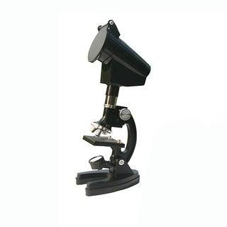 Cassini 300X - 600X - 1200X Metal Microscope Kit and Storage Case (98-piece set)
