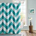 Mi Zone Aries Chevron Microfiber Shower Curtain