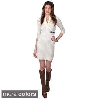 Calvin Klein Women's Shawl Buckle Sweater Dress