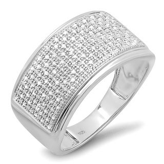 Sterling Silver 1/3ct TDW Men's Diamond Band (I-J, I2-I3)