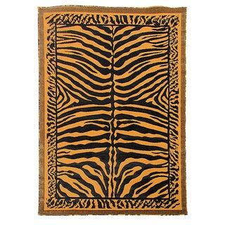 Kingdom Design Golden Brown Animal Skin Print Rug (5' x 7')