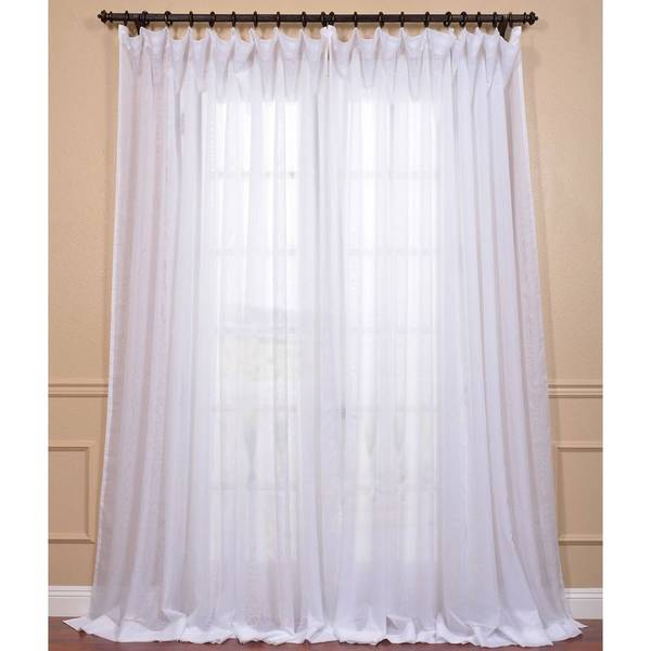 Signature White Extra Wide Double Layer Sheer Curtain