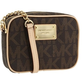 MICHAEL Michael Kors 'Jet Set' Small Brown Crossbody Bag