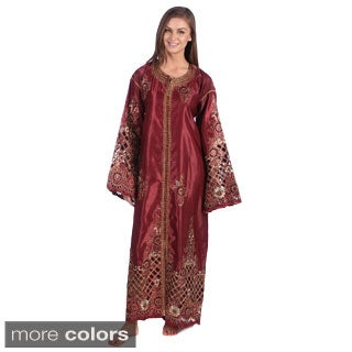 Handmade Moroccan Caftan with Gold Embroideries