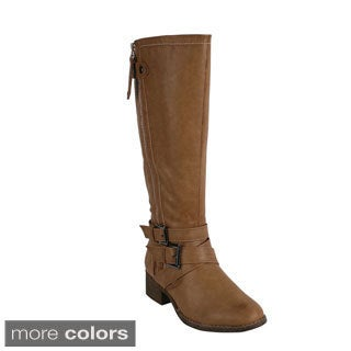 Reneeze GALAXY-1 Women's Side Zip Knee-High Riding Boots