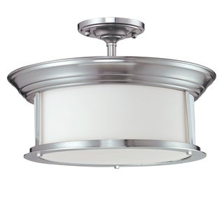 Z-Lite 3-light Semi-flush Mount Pendant Lamp