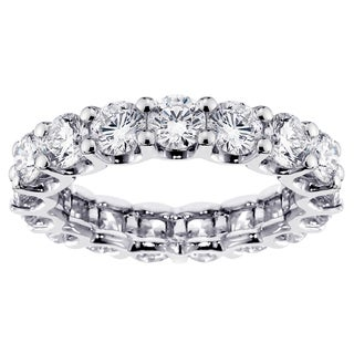 14k White Gold or Platinum 4ct TDW Diamond Eternity Band (F-G, SI1-SI2)