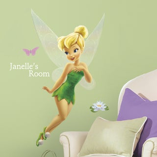 Tinkerbell Peel and Stick Giant Wall Decal with Personalization