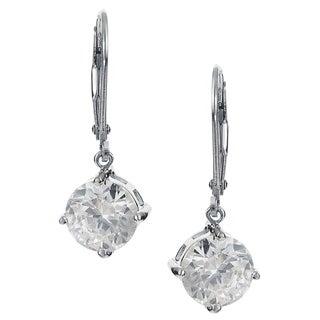Journee Collection Sterling Silver Cubic Zirconia Drop Earrings