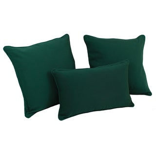 Blazing Needles Solid Microsuede Twill Throw Pillows (Set of 3)