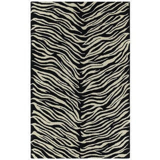 Hand-tufted Lawrence Zebra Wool Rug (9'6 x 13'0)