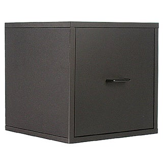 Organize It All Black Storage Open Drawer Cube