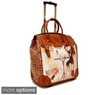 Nicole Lee Special Print Rolling 16-inch Laptop Tote Bag