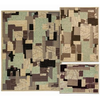 Nourison Patchwork Collection Beige 3-piece Rug Set (3'11 x 5'3) (5'3 x 7'3) (7'10 x 10'6)