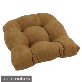 U-Shaped Tufted Microsuede Chair Cushion
