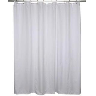 White Microfiber Shower Curtain Liner
