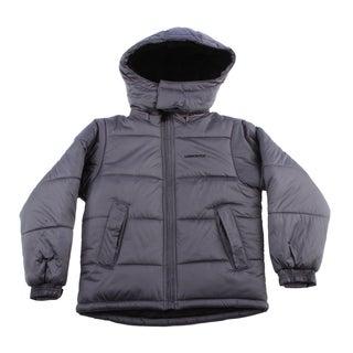 London Fog Boys 8-16 Faux Fur Lining Grey Jacket