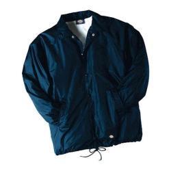 Men's Dickies Snap Front Nylon Jacket Dark Navy