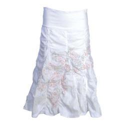 Women's Ojai Clothing Crinkled Skirt White