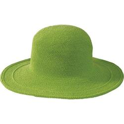 Women's San Diego Hat Company Cotton Crochet Hat Large Brim CHL5 Apple