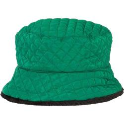 Women's San Diego Hat Company Quilted Waterproof Bucket CTH3636 Emerald