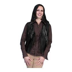 Women's Scully Leather Boar Suede Vest L302 Black Boar Suede