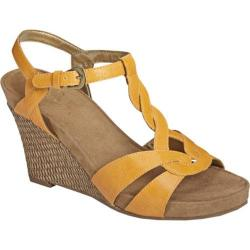 Women's A2 by Aerosoles Stone Plush Yellow Faux Leather