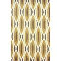 nuLOOM Handmade Oblong Geometric Brown Rug (7'6 x 9'6)