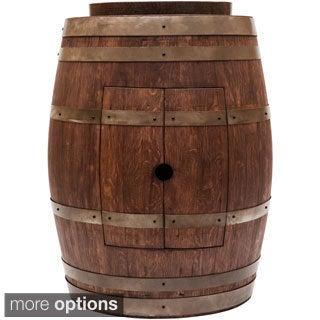 Wine Barrel Skirted Vessel Sink Vanity Set