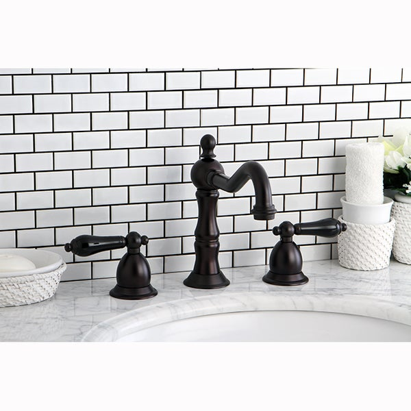 Black Widespread Bathroom Faucet : Oil Rubbed Bronze and Black Widespread Bathroom Faucet - Overstock ...