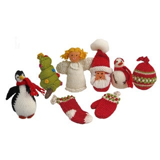 Alpaca 8-piece Set Christmas Tradition Ornaments (Peru)