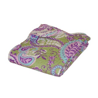Portia Paisley Quilted Throw