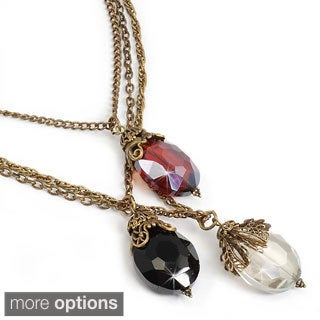 Sweet Romance Triple Tier Crystal Necklace
