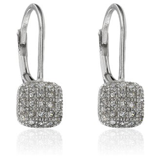 Molly and Emma Sterling Silver Cubic Zirconia Square Earrings