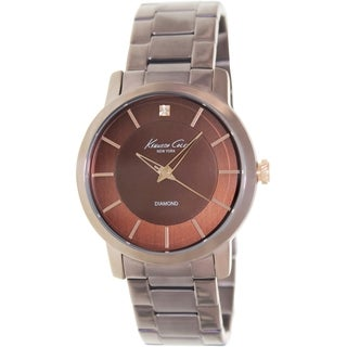 Kenneth Cole Men's Newness KC9287 Brown Stainless-Steel Quartz Watch with Brown Dial