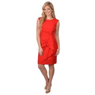 Calvin Klein Women's Sleeveless Side Drape Dress