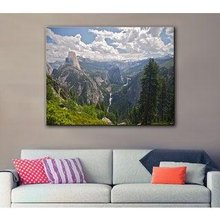 Art Wall Dan Wilson 'Yosemite-Half Dome, Vernal Falls and Nevada Falls' Gallery-Wrapped Canvas