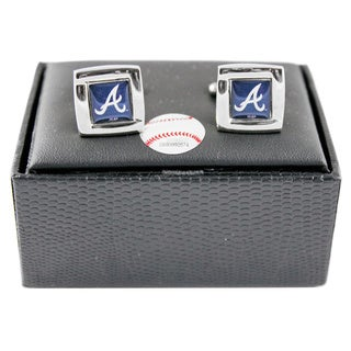 Aminco MLB Team Logo Square Cufflinks Gift Box Set