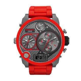 Diesel Men's DZ7279 Mr. Daddy Round Red Bracelet Watch
