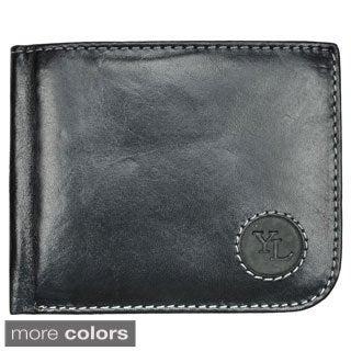YAALI Men's Leather Fold-over Wallet
