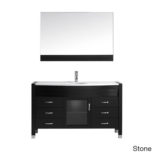 Virtu Usa 39 Ava 39 55 Inch Espresso Single Sink Vanity