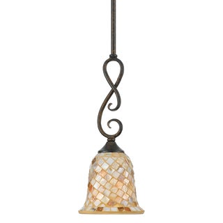 Quoizel 'Monterey Mosaic' 1-light Mini-Pendant