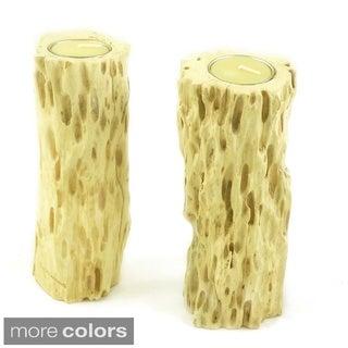 Drift Wood Candle Holder Set (Set of 2)
