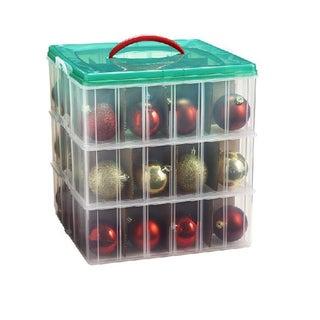 Snap 'N Stack 12x12-inch 3-layer Seasonal Ornament Organizer