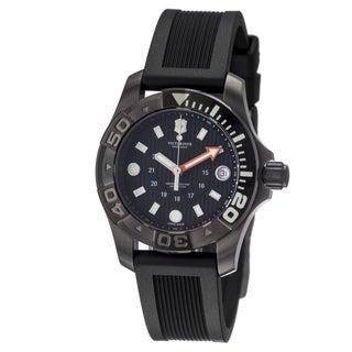 Victorinox Swiss Army Men's 241555 'Dive Master' Black Dial Black Rubber Strap Watch