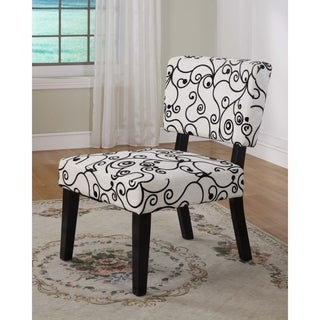 Linon Taylor White/ Black Accent Chair