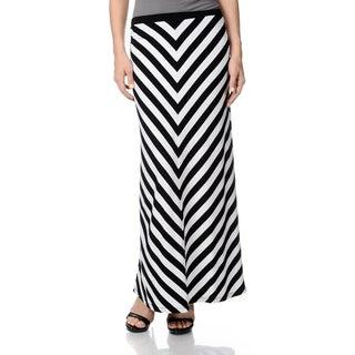 Chelsea & Theodore Women's Striped Maxi Skirt