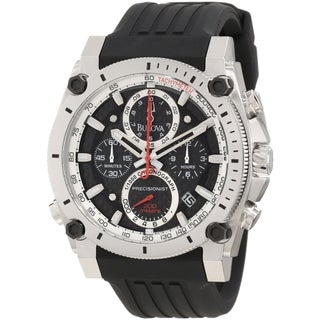 Bulova Men's 98B172 Precisionist Black Polyurethane Quartz Watch
